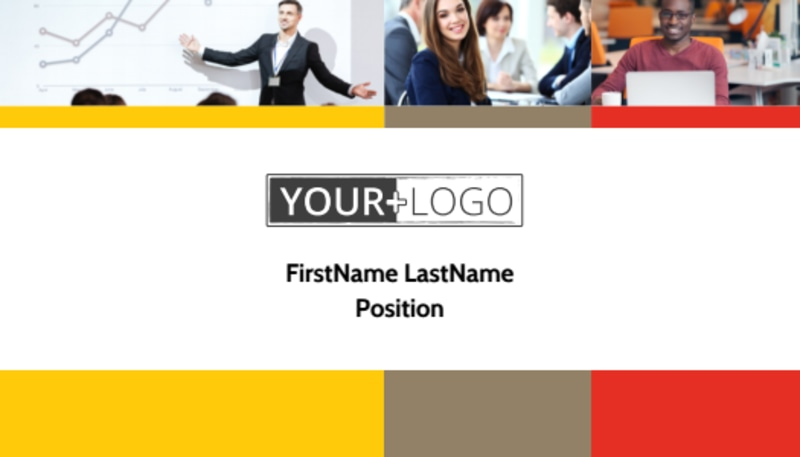 Executive Business Consulting Business Card Template Preview 2