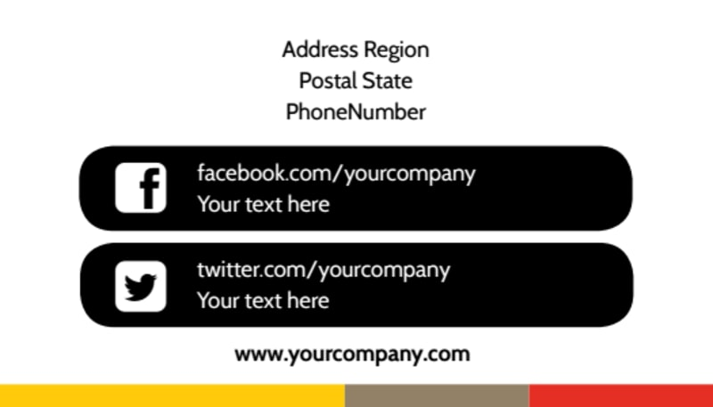 Executive Business Consulting Business Card Template Preview 3