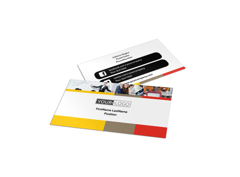 Executive Business Consulting Business Card Template Preview 1