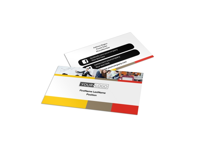 Executive Business Consulting Business Card : Business Services ...