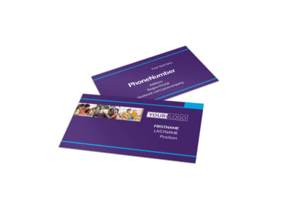 Infant Care & Babysitting Business Card Template preview