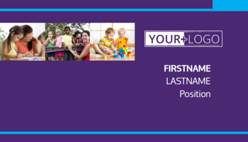 Babysitting & Infant Care Business Card Template Preview 2