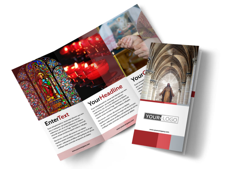 Catholic Church Brochure Template Preview 4