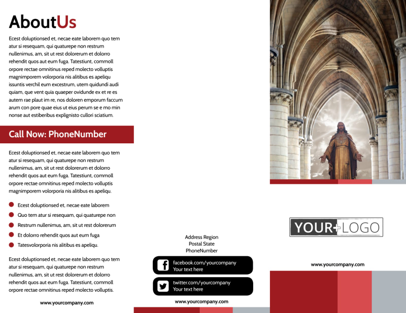 Catholic Church Brochure Template Preview 2