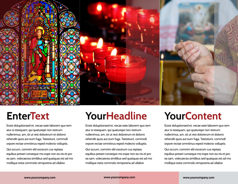Catholic Church Brochure Template Preview 3