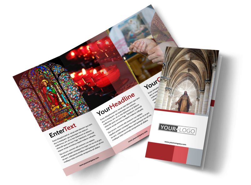 Catholic Church Brochure Template Preview 1