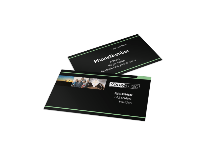 Christian Church Business Card Template Preview 1