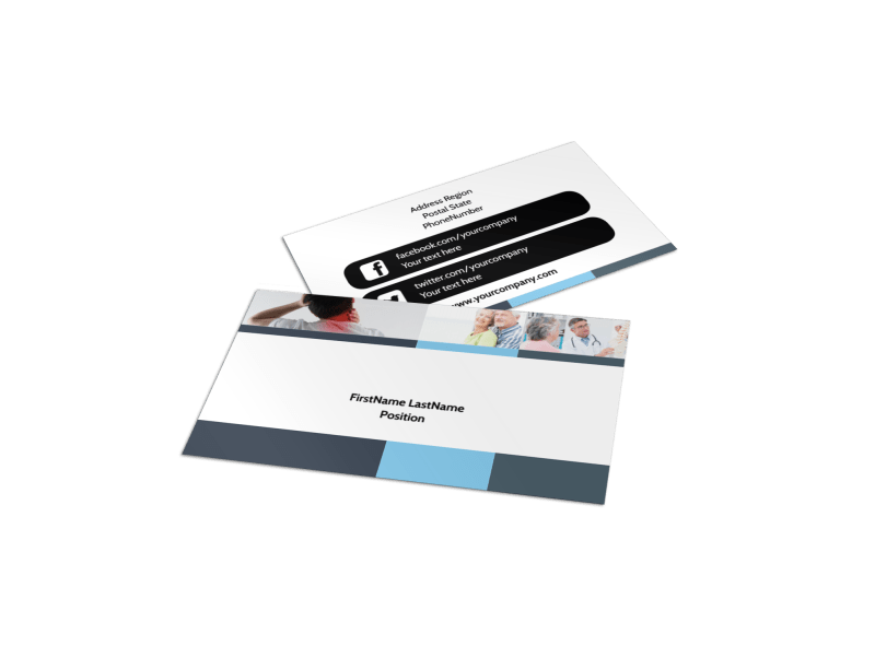 Chiropractor Clinic Business Card Template Preview 1