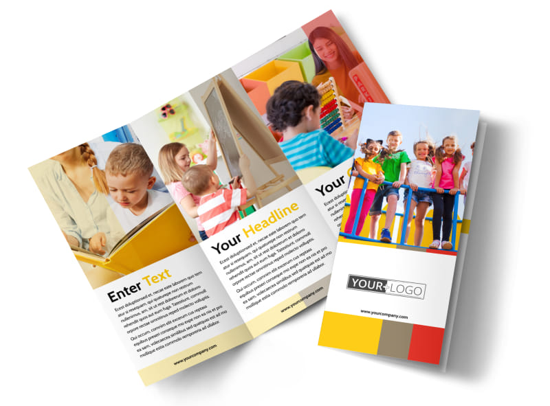 Preschool & Day Care Services Brochure Template Preview 4