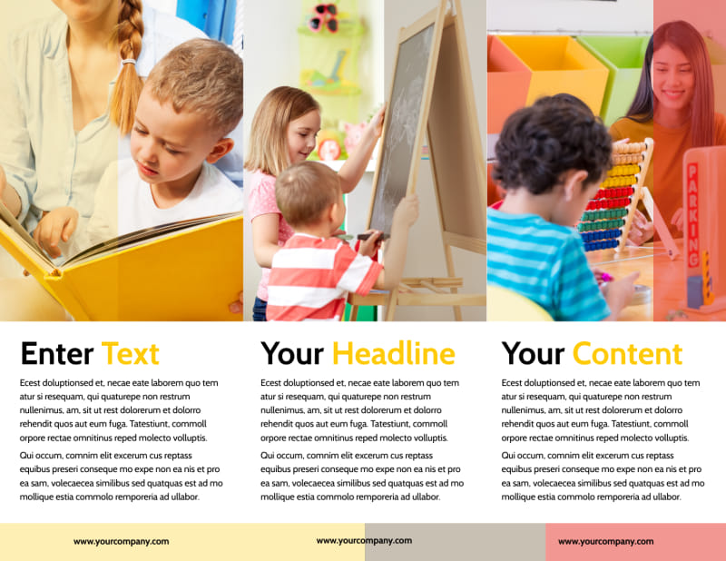 Preschool & Day Care Services Brochure Template Preview 3