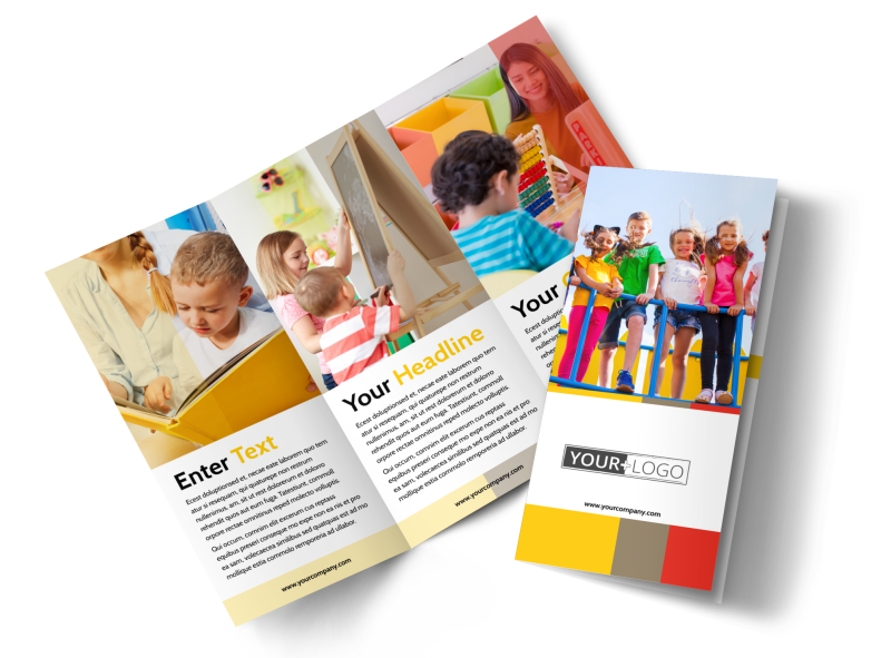 Preschool & Day Care Services Brochure Template Preview 1