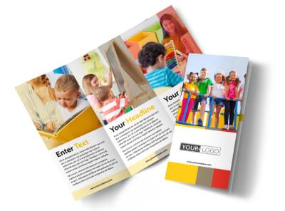Preschool & Day Care Services Tri-Fold Brochure Template