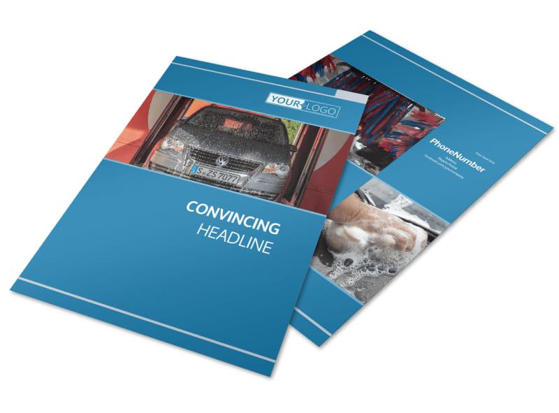 Bubbly Car Wash Brochure Template MyCreativeShop