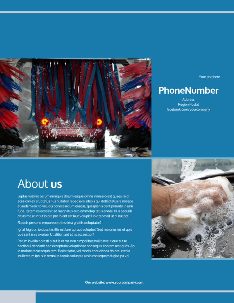 Bubbly Car Wash Flyer Template Preview 3