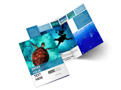 Scuba Diving Bi-Fold Brochure Template 2