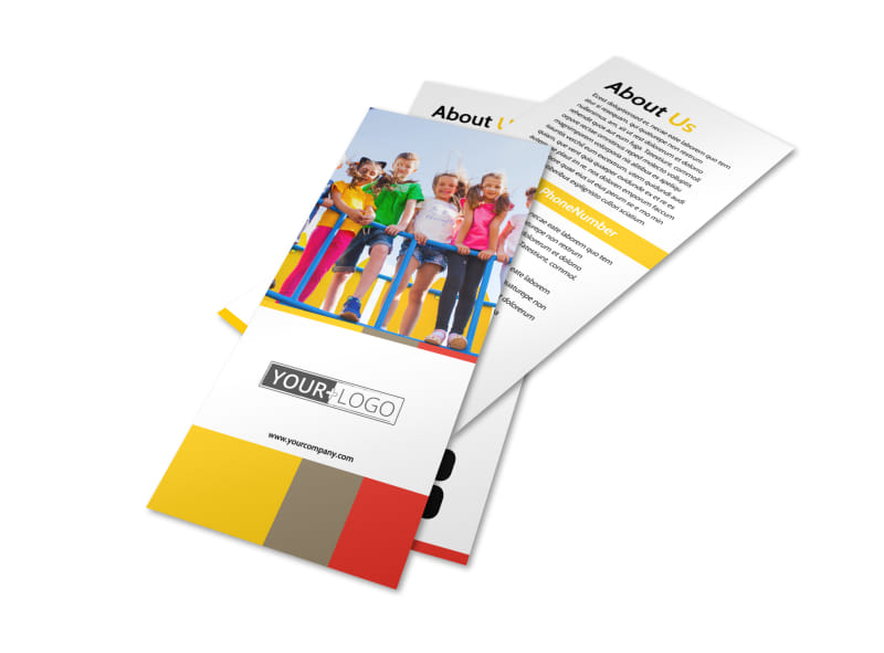 Preschool & Day Care Services Flyer Template Preview 4