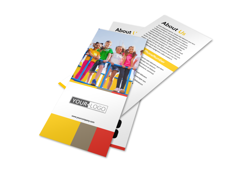 Preschool & Day Care Services Flyer Template Preview 1