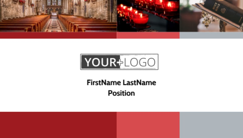 Catholic Church Business Card Template Preview 2