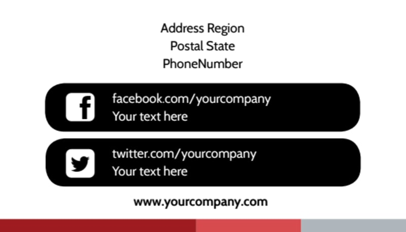 Catholic Church Business Card Template Preview 3