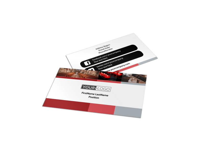 Catholic Church Business Card Template Preview 1