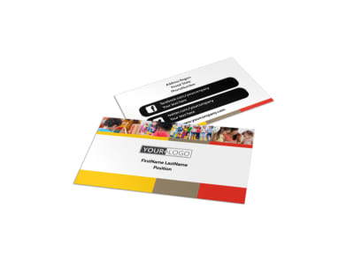 Preschool & Day Care Services Business Card Template preview