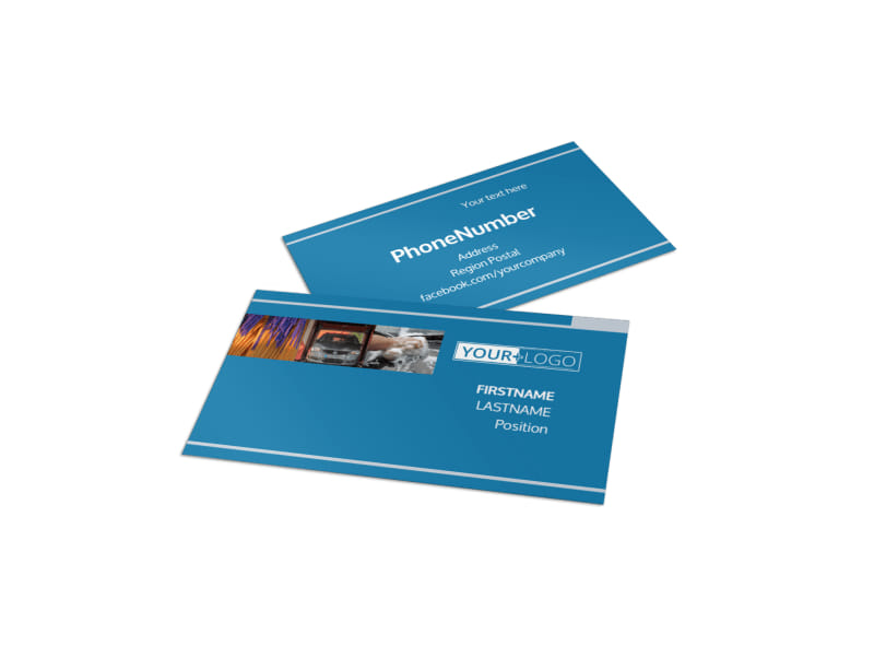Bubbly Car Wash Business Card Template