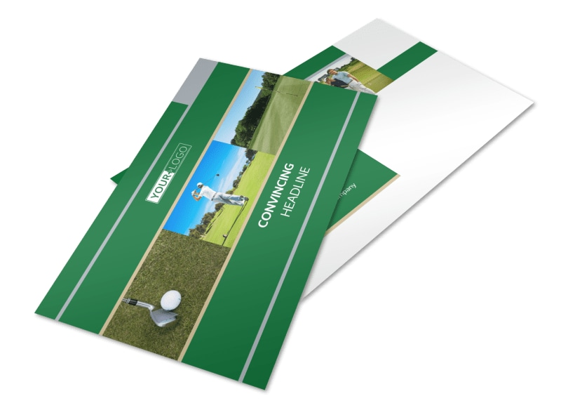 Perfect Swing Golf Tournament Postcard Template 2