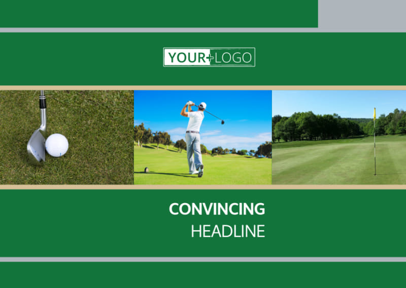 Perfect Swing Golf Tournament Postcard Template Preview 2
