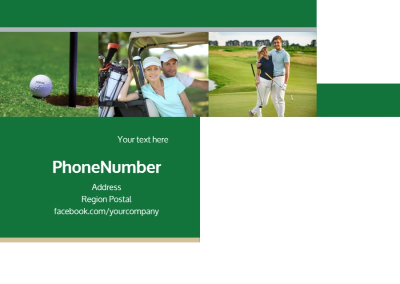 Perfect Swing Golf Tournament Postcard Template Preview 3