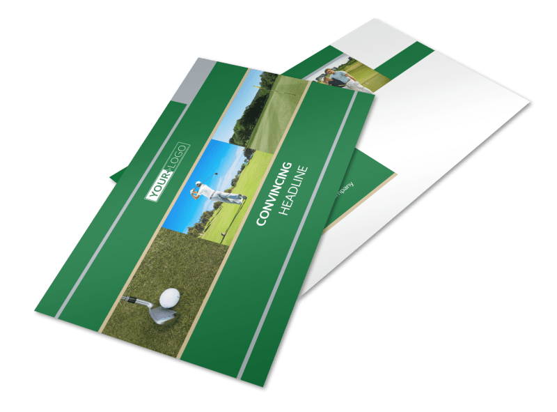 Perfect Swing Golf Tournament Postcard Template Preview 1