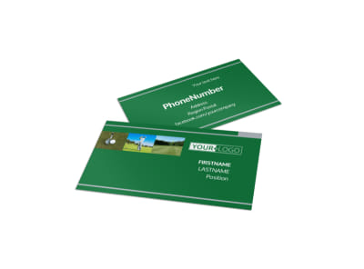 Perfect Swing Golf Tournament Business Card Template