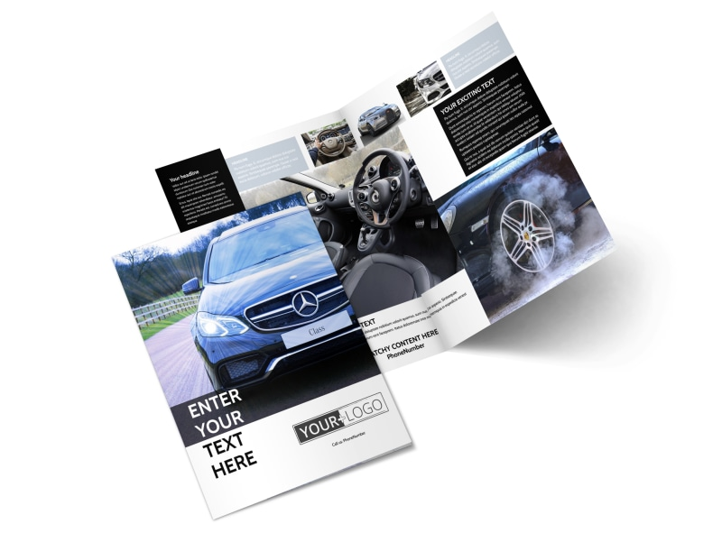 Luxury Auto Dealer Bi-Fold Brochure Template 2