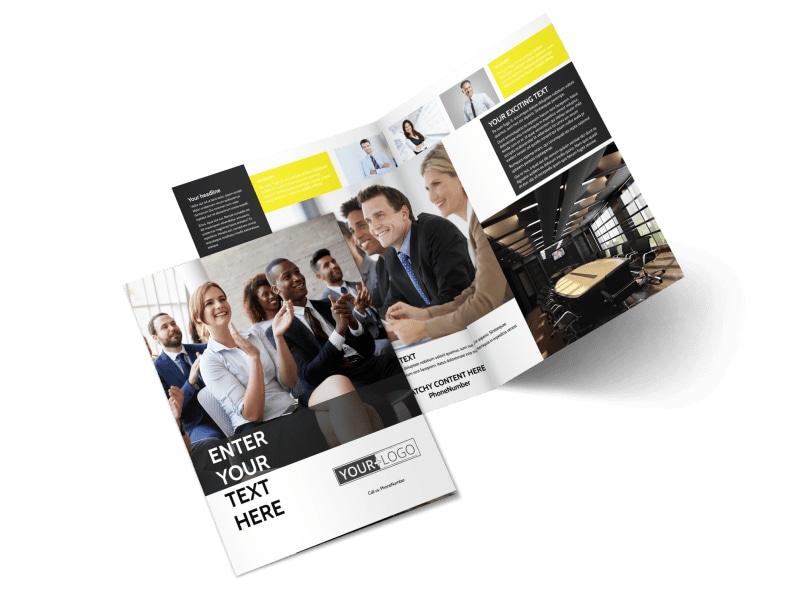 Business Development Conference Bi-Fold Brochure Template 2