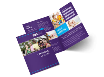 Infant Care & Babysitting Bi-Fold Brochure Template 2 preview