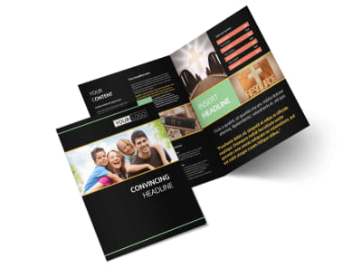 Christian Church Bi-Fold Brochure Template 2