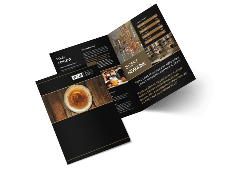 Brewery Tour Bi-Fold Brochure Template 2