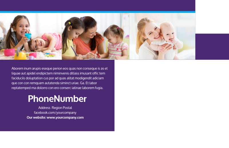 Babysitting & Infant Care Postcard Template Preview 3