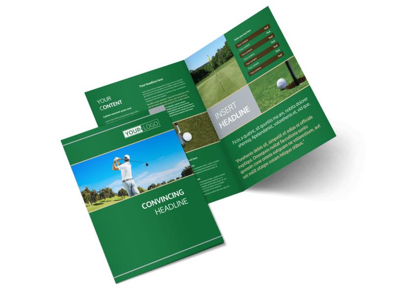 Perfect Swing Golf Tournament Bi-Fold Brochure Template 2