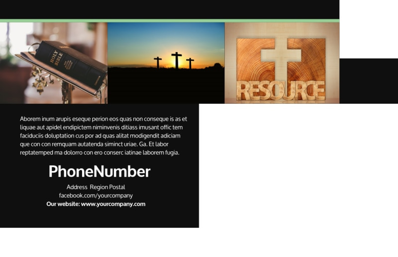 Christian Church Postcard Template Preview 3
