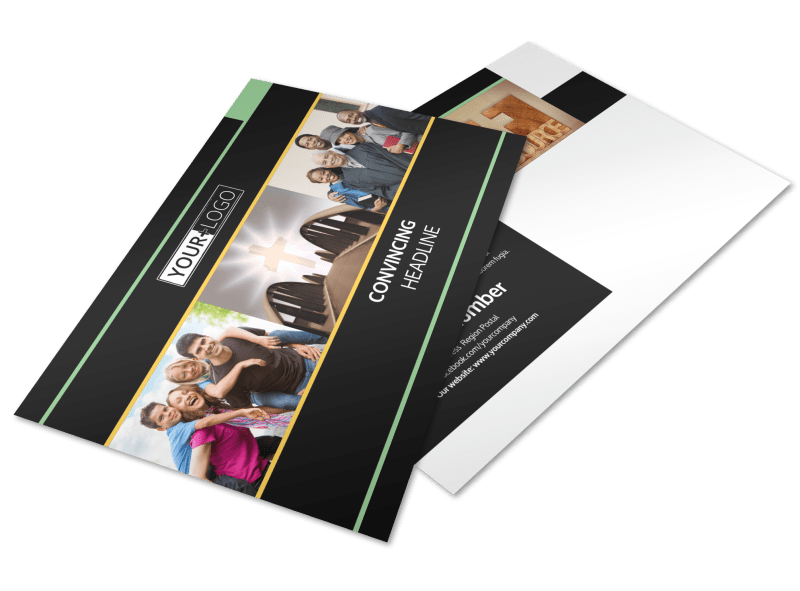 Christian Church Postcard Template Preview 1