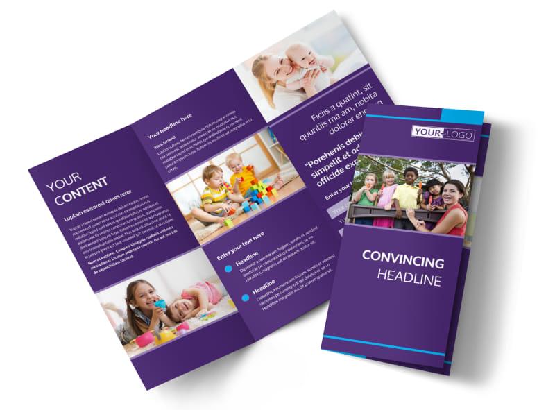 infant care babysitting brochure template