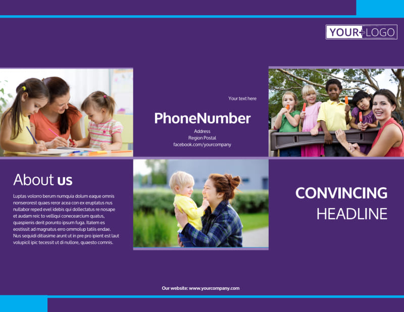 Babysitting & Infant Care Brochure Template Preview 2
