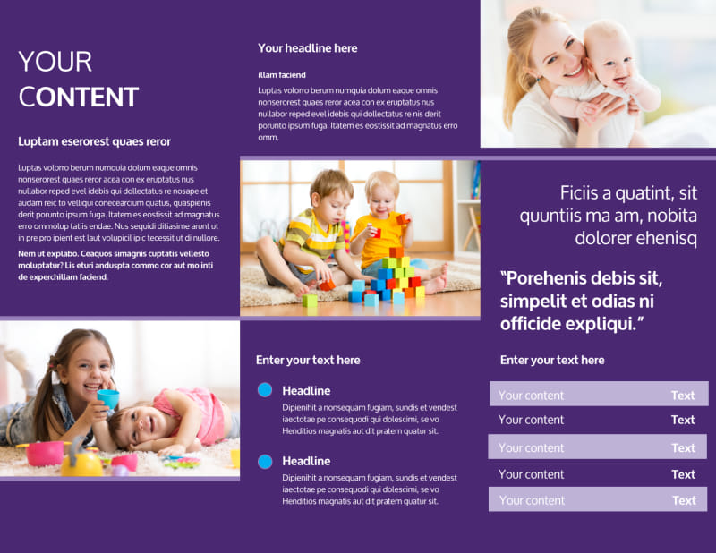 Babysitting & Infant Care Brochure Template Preview 3