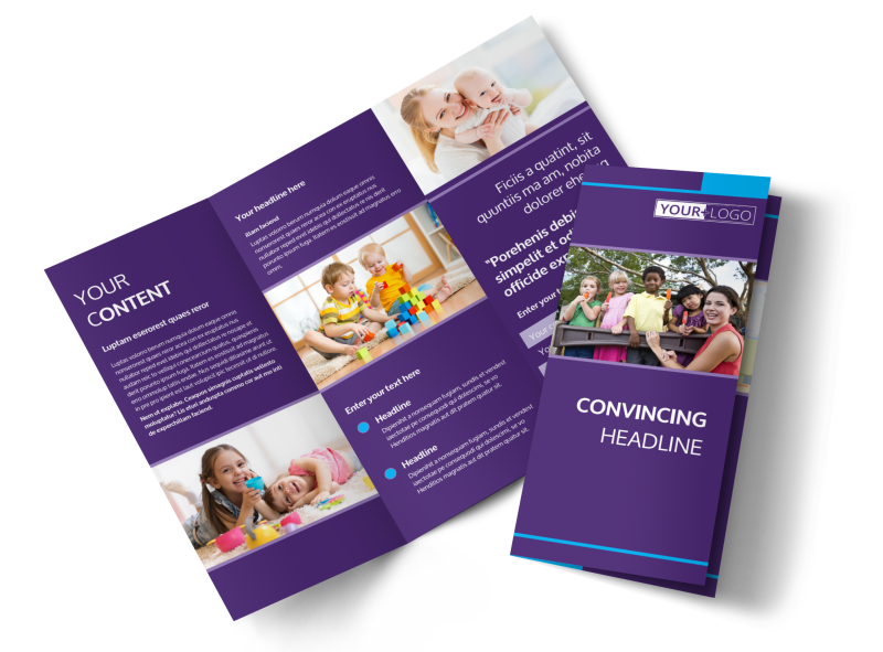 Babysitting & Infant Care Brochure Template Preview 1