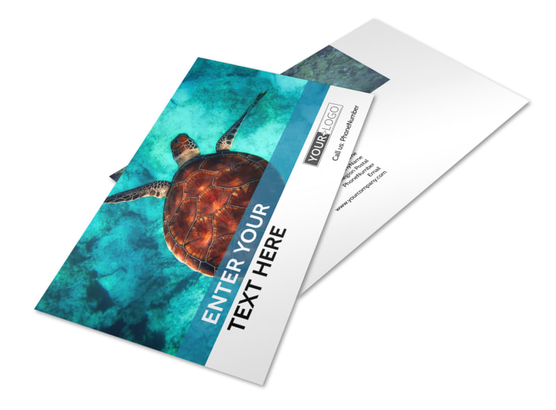 Scuba Diving Postcard Template 2