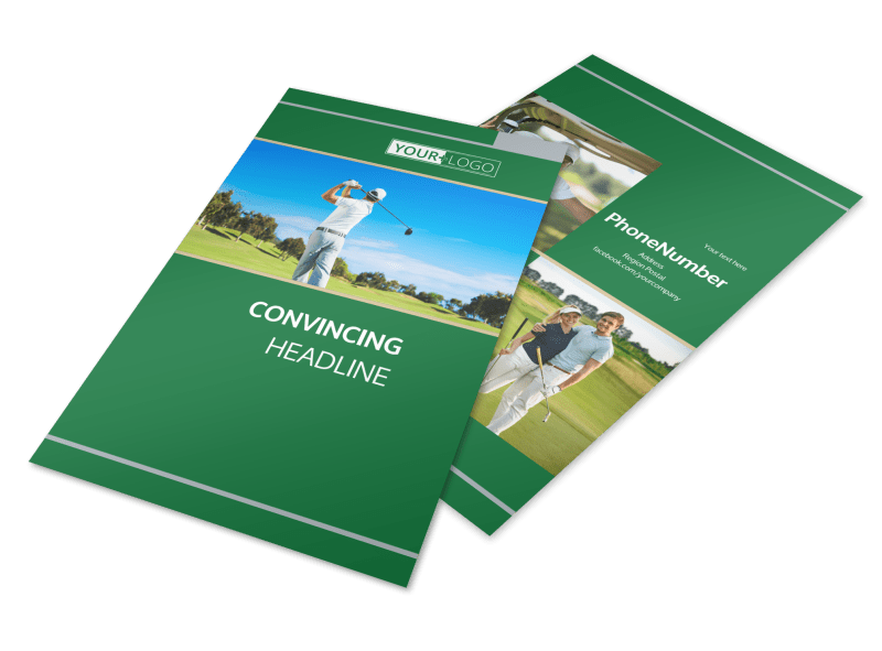 Perfect Swing Golf Tournament Flyer Template Preview 1