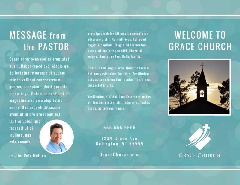 Christian Church Brochure Template Preview 2