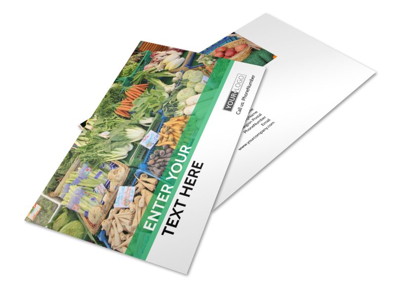 Local Produce Market Postcard Template Preview 1