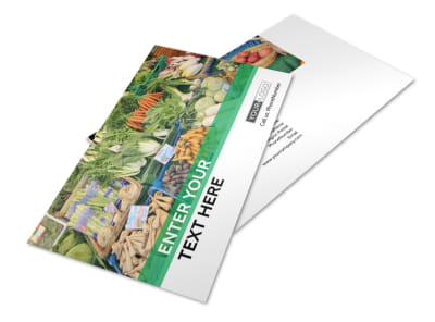 Local Produce Market Postcard Template 2