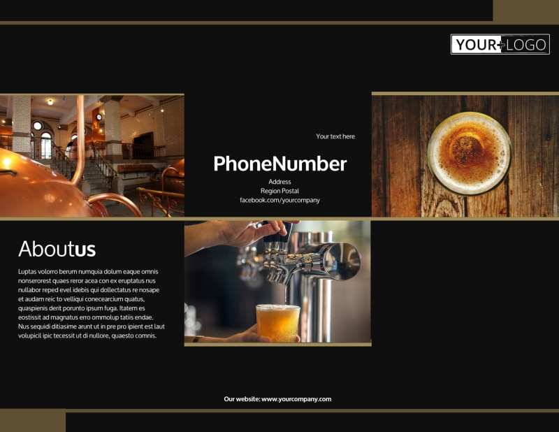 Brewery Tour Brochure Template Preview 2
